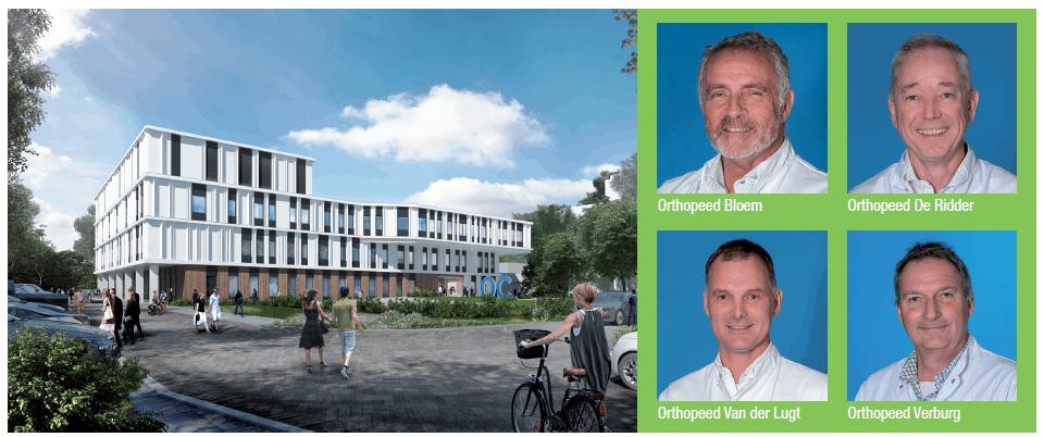 Artist impression van het nieuwe Orthopedisch Centrum Zoetermeer